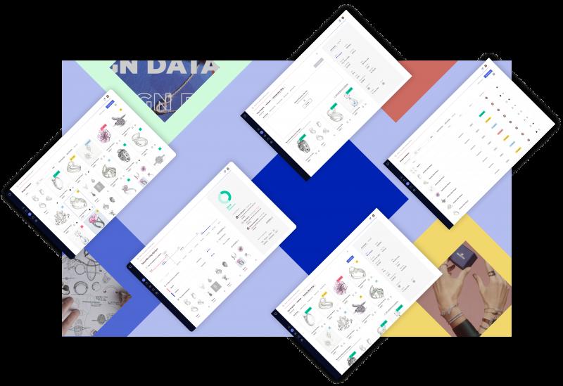 Swarovski Design Database moodboard.